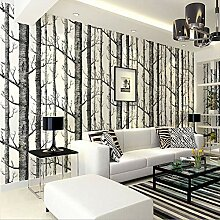 Aufkleber Wanddekoration, Birke Baum Muster Vlies