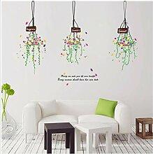 Aufkleber Wandsticker Wandaufklebekorb Blumentopf