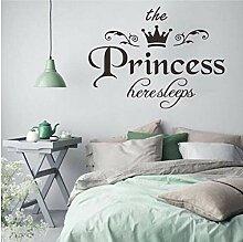 Aufkleber Wandsticker Wandaufkleber Prinzessin
