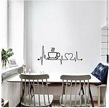 Aufkleber Wandsticker Wandaufkleberkaffeetasse