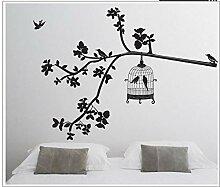 Aufkleber Wandsticker Wandaufklebervogelkäfig Mit
