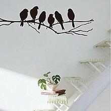 Aufkleber Wandsticker Wandaufklebezweigvogel