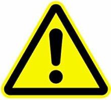 Aufkleber Warnschild Warnung vor einer
