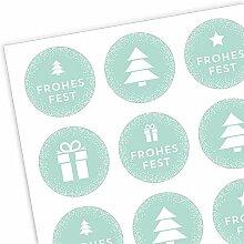 Aufkleber Weihnachten dots - Sticker & Etiketten