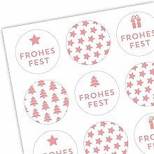 Aufkleber Weihnachten Mix VIII - Sticker &