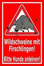 Aufkleber – Wild-schweine mit Frischlingen -