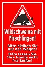 Aufkleber – Wildschweine mit Frischlingen -