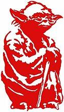 Aufkleber Yoda. (ca. 105x 60cm.) rot.
