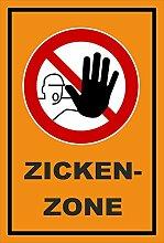 Aufkleber - Zicken-Zone - Zutritt für Unbefugte