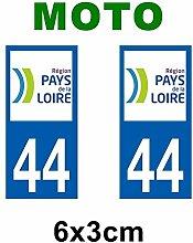 Aufkleber-Zulassung für Motorrad Land der Departements Loire-Land de la Loire/53 Mayenne