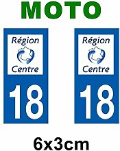 Aufkleber-Zulassung für Motorrad Zentrum-Zentrum Departement Loiret/45