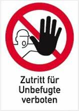 Aufkleber Zutritt für Unbefugte verboten 29,7x21cm