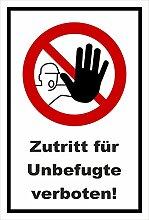 Aufkleber - Zutritt für Unbefugte verboten -