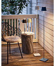 Aufladbare LED-Stehlampe für drinnen, draußen
