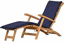 Auflage für Deckchair, blau, dralon, waschbar ✓