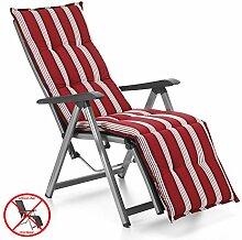 Auflagen für Relax Liegestuhl Rio 20581-310 in rot-weiß gestreift (ohne Relax)