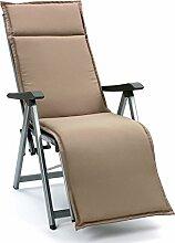Auflagen für Relaxsessel Relaxliegen Kuba 50234-610 in taupe 174 x 50 cm (ohne Sessel)
