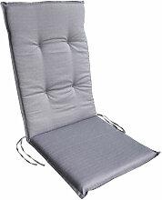 Auflagen Serie Rhodos:Grau, Hochlehnerauflage