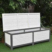 Auflagenbox 140CM Kissenbox Holz Gartentruhe