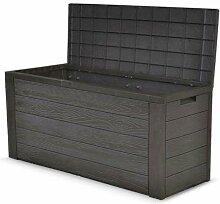 Auflagenbox Holz Optik Gartenbox Gartentruhe
