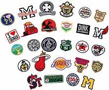 Aufnaeher Aufbuegler Buchstaben M Patch Sticker Applikation fuer Bkleidung DIY Dekoratio,27 Stk/Se