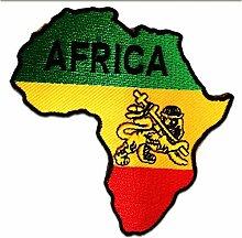 Aufnäher/Bügelbild - Afrika Flagge Fahne - gelb