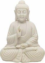 Aufora Meditierender Buddha Statue in, Weiß,