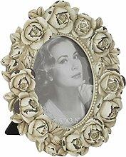 Aufora Vintage Bilderrahmen weiß 9 cm