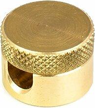 Aufputz-Kabelhalter aus Messing   Kabelaufhängung für Textilkabel - 10 Stück