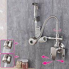Aufputz-Küchenarmatur aus Edelstahl 304,