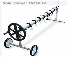 Aufroller Pool Abdeckung Solarfolie Schwimmbad max 8,7 Meter Edelstahl und Aluminium