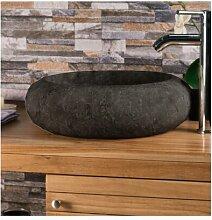Aufsatz-Waschbecken Argenziano aus Stein