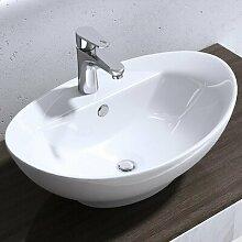 Aufsatz-Waschbecken Brüssel aus Keramik