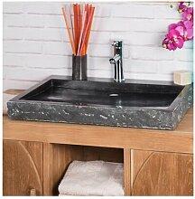 Aufsatz-Waschbecken Vancleave aus Stein