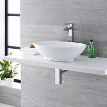 Aufsatzwaschbecken Kenton Oval 52 x 32 cm mit