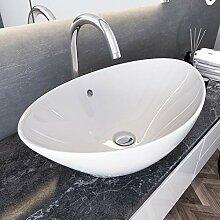 Aufsatzwaschbecken oval Keramik Handwaschbecken