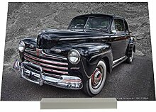 Aufstellbild Oldtimer Auto schwarzer Oldtimer Plakat Druck Retro
