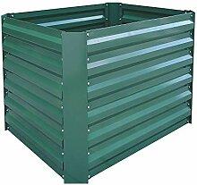 AUFUN 80x60x60 cm Hochbeet verzinkt Stahl
