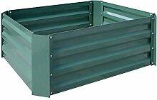 AUFUN 80x80x30 cm Hochbeet verzinkt Stahl