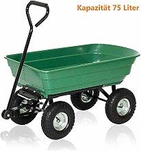 Aufun Gartenwagen Gartenkarre bis 300 kg Belastung