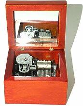 Aufzieh Holz Musik Box Mit Vergoldung Bewegung in,