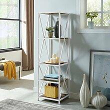 Augustus X-Frame Etagere Bookcase LoftDesigns