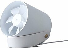 AUKAY USB Ventilator Tischventilator Fan Lüfter optimal für den Schreibtisch inkl. An Aus-Schalter PC MAC Notebook in Weiß