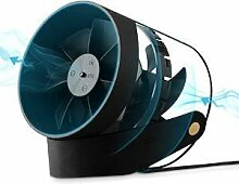 AUKAY USB Ventilator Tischventilator Fan Lüfter optimal für den Schreibtisch inkl. An Aus-Schalter PC MAC Notebook in Schwarz
