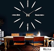 AungAoo Kreative Mode_Heimtextilien Dekoratives Acryl Spiegel Clock, Golden