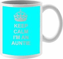 Auntie Keramik Tasse Design auf weiß Keramik