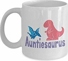 Auntiesaurus Becher