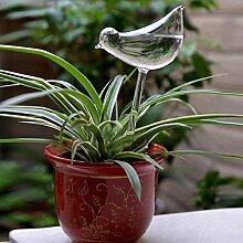Auntwhale Automatische Bewässerungsvorrichtung 1 Stück Glas Bewässerungsblume Gerät Bewässerung Blume Werkzeuge Einfaches Blumentopf-Gerät Vogel Form