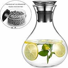 AuPower Glaskrug 1.5 Liter Glaskaraffe Wasserkrug