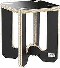 AUPROTEC Blumenhocker Beistelltisch HE-11 Birke 25 x 25 x 30 cm Blumenständer schwarz Multiplex Birken-Sperrholz in exklusivem Design als Deko Pflanzen-Säule Fußbank Hocker Tisch